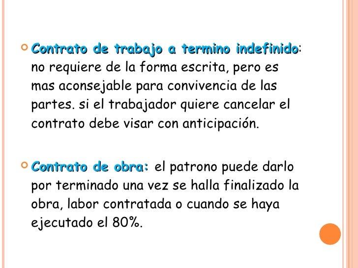 Contrato individual de trabajo for Contrato indefinido ejemplo