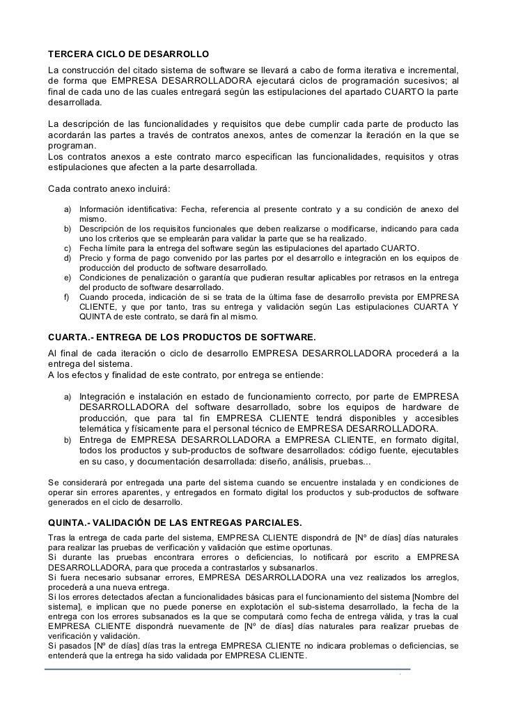contrato marco de desarrollo de software