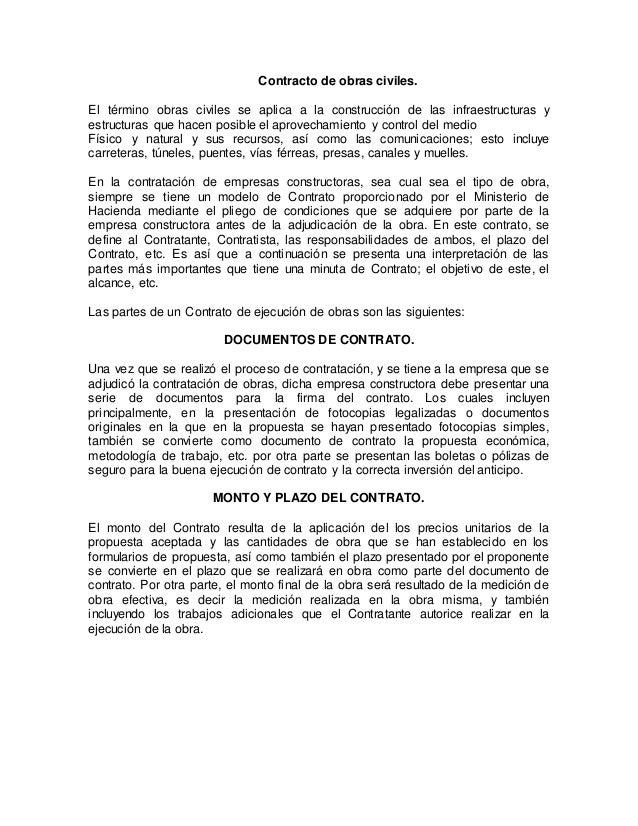 Contrato Obra Civiles