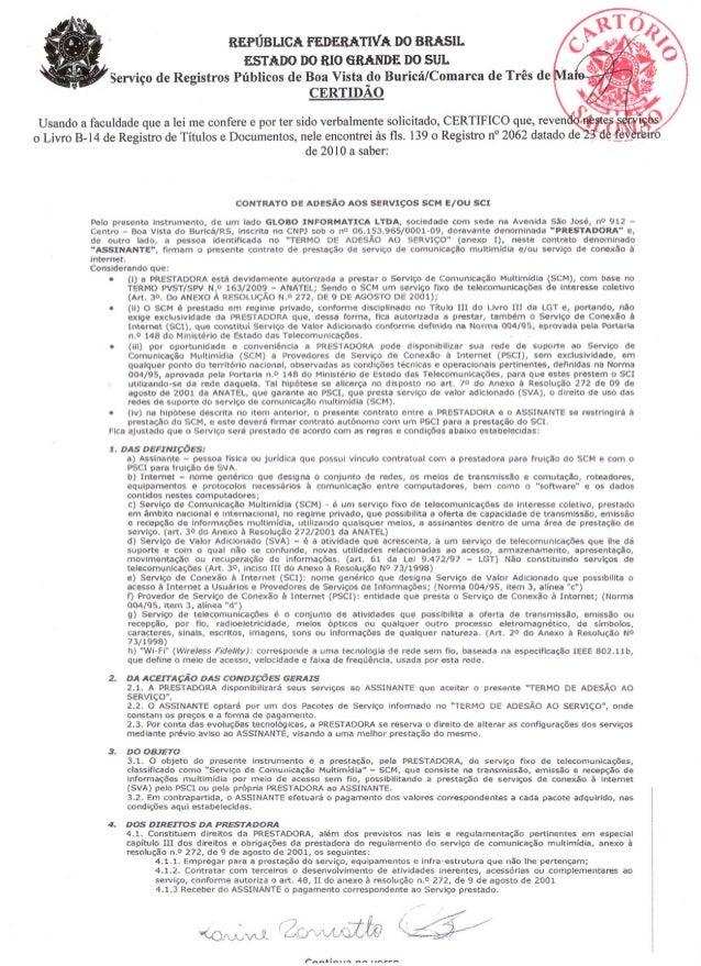 Contrato prestadora scm e usuário   registrado