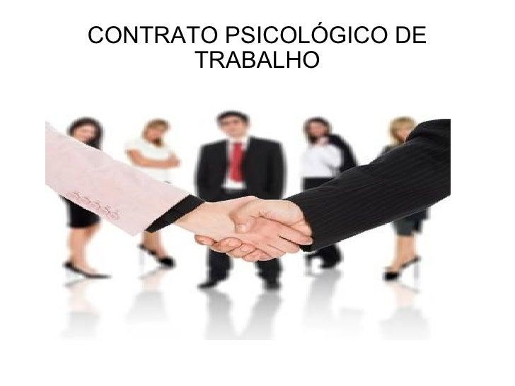 CONTRATO PSICOLÓGICO DE TRABALHO