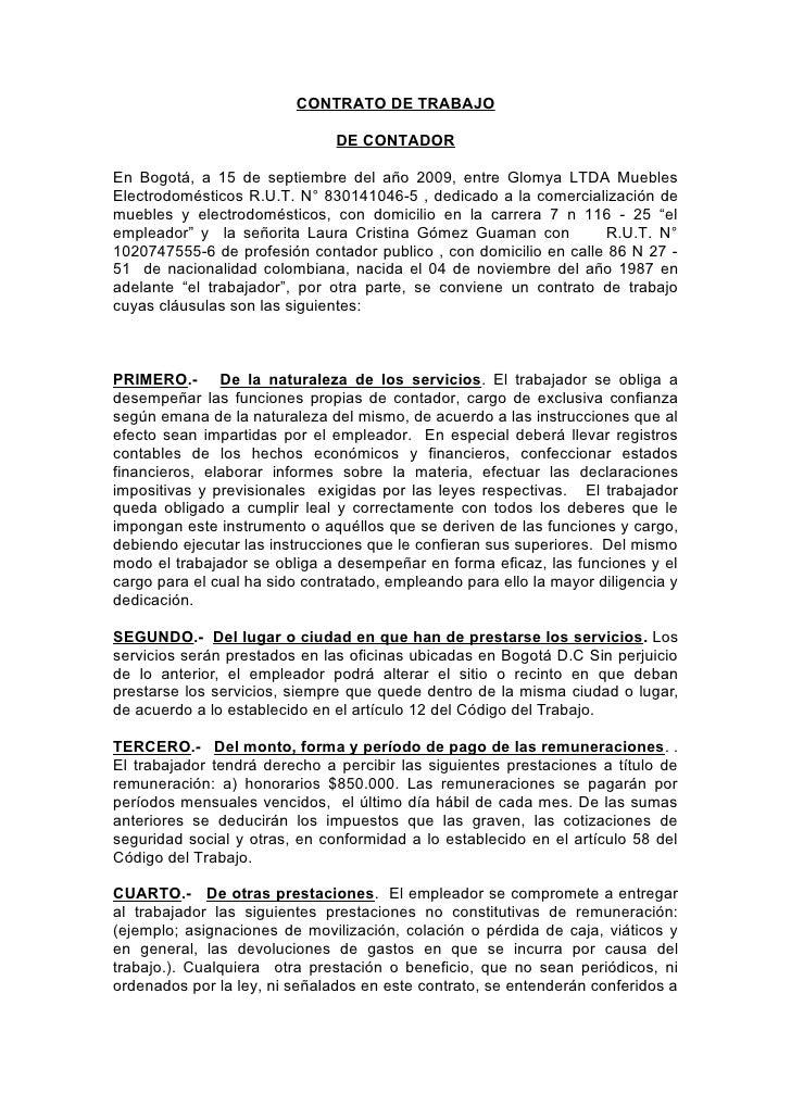 Contratos for Contrato laboral para empleadas domesticas