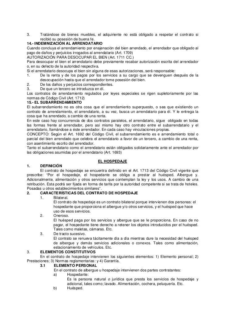 Contratos c digo civil per for Arrendamiento de bienes muebles ejemplos