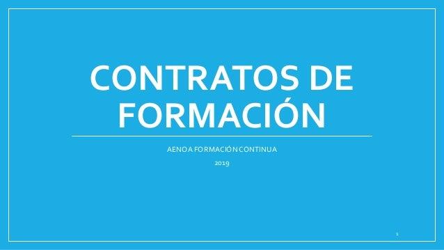 CONTRATOS DE FORMACIÓN AENOA FORMACIÓNCONTINUA 2019 1