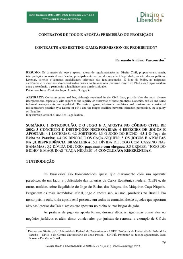 79 Revista Direito e Liberdade-RDL - ESMARN - v. 15, n. 2, p. 79–95 – maio/ago. 2013. ISSN Impresso 1809-3280 | ISSN Eletr...