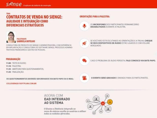 Contratos de Vendas no Sienge: agilidadee integraçãocomo diferenciais estratégicos