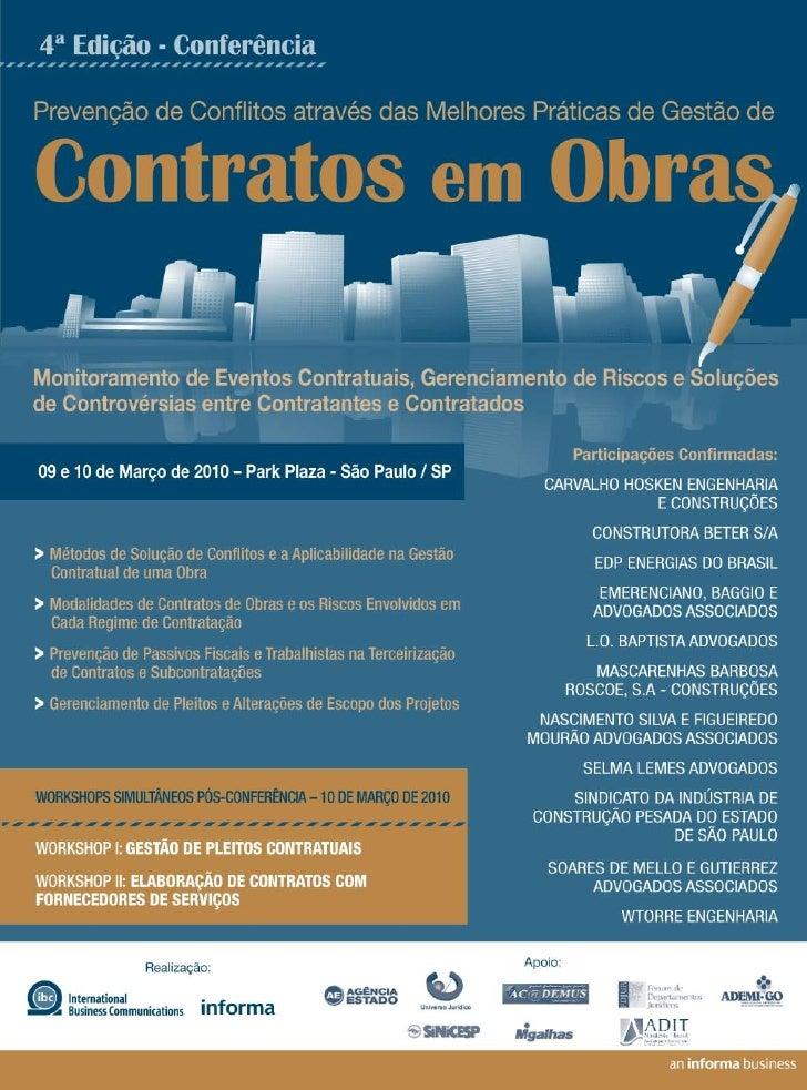 WORKSHOP II      PROCEDIMENTOS E PRECAUÇÕES NA ELABORAÇÃO DE CONTRATOS COM   FORNECEDORES DE SERVIÇOS OBJETIVO Proporciona...