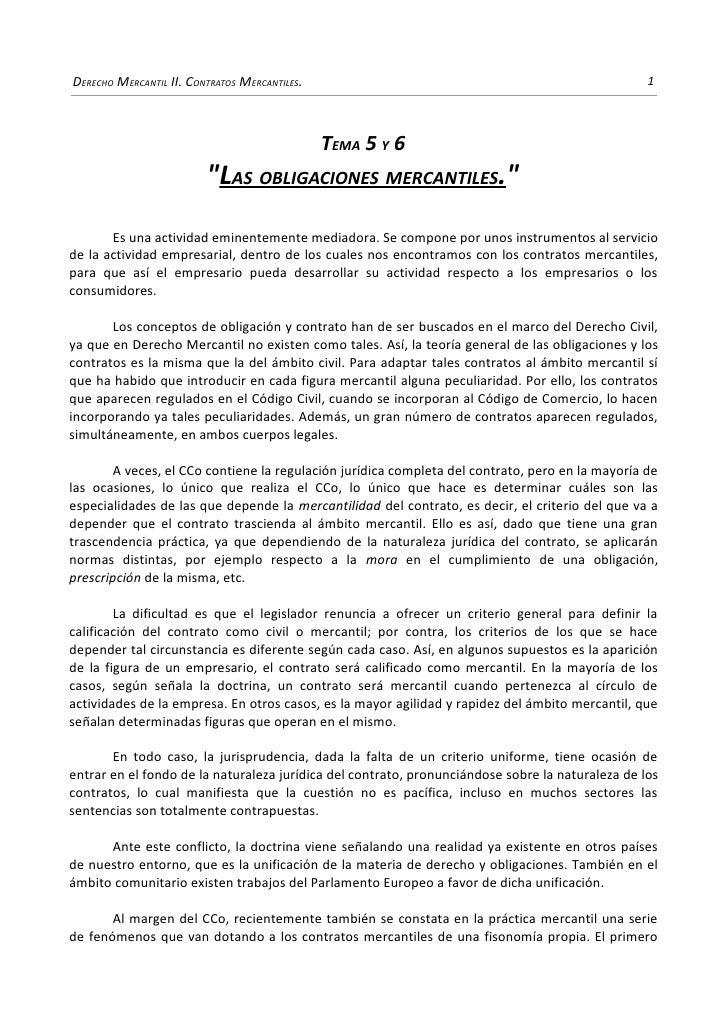 DERECHO MERCANTIL II. CONTRATOS MERCANTILES.                                                      1                       ...