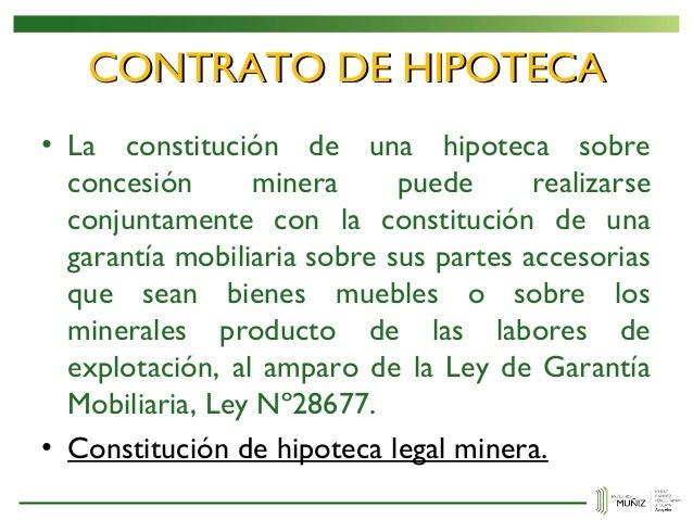 Contratos mineros for Contrato de hipoteca