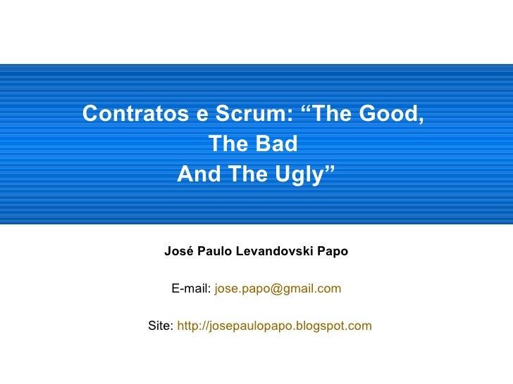 <ul><li>José Paulo Levandovski Papo </li></ul><ul><li>E-mail:  [email_address] </li></ul><ul><li>Site:  http://josepaulopa...