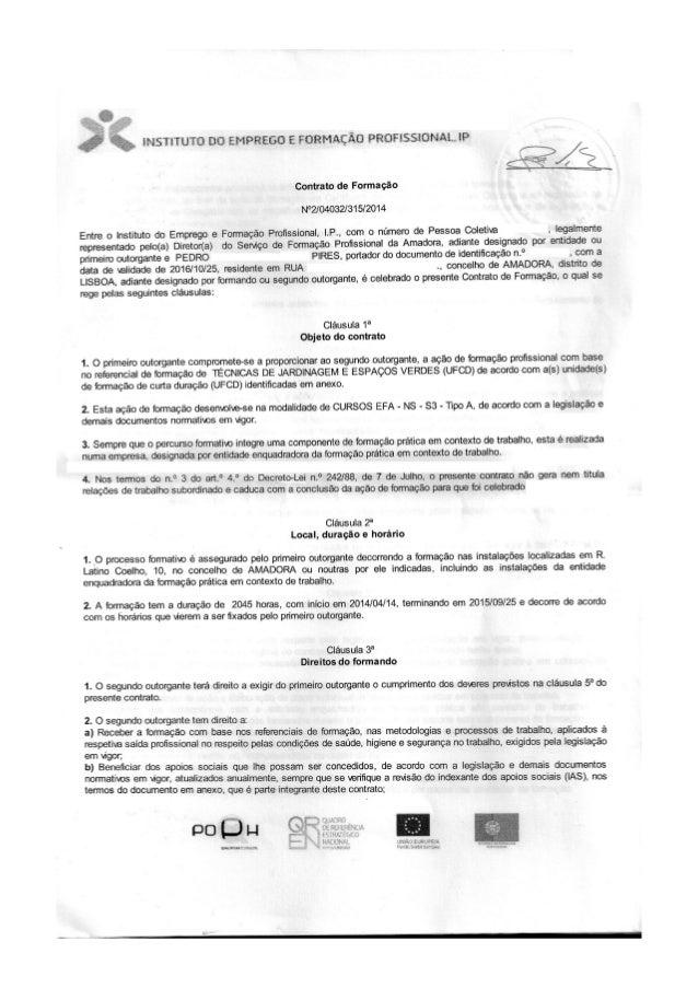 Contrato formação iefp