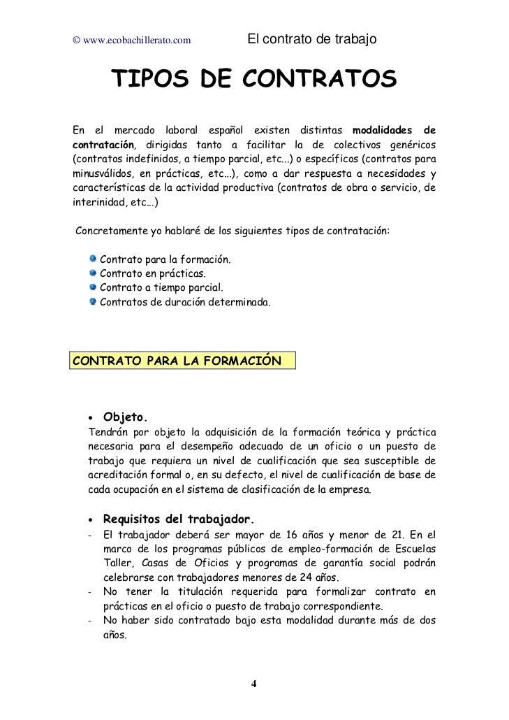 El contrato de trabajo for Contrato indefinido ejemplo