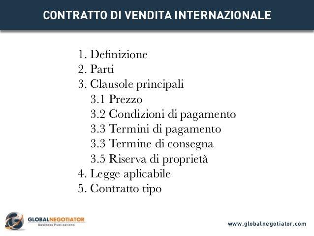 Contratto di vendita internazionale for Contratto 3 2