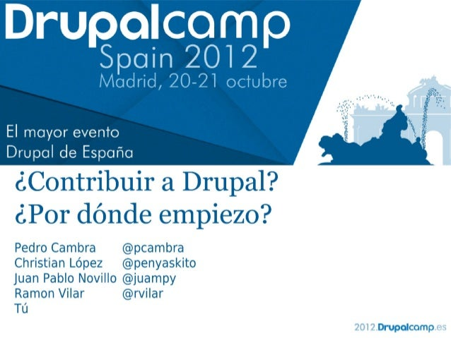 Contribuir en Drupal: Por dónde empiezo?