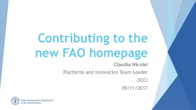 Contributing to the new FAO homepage