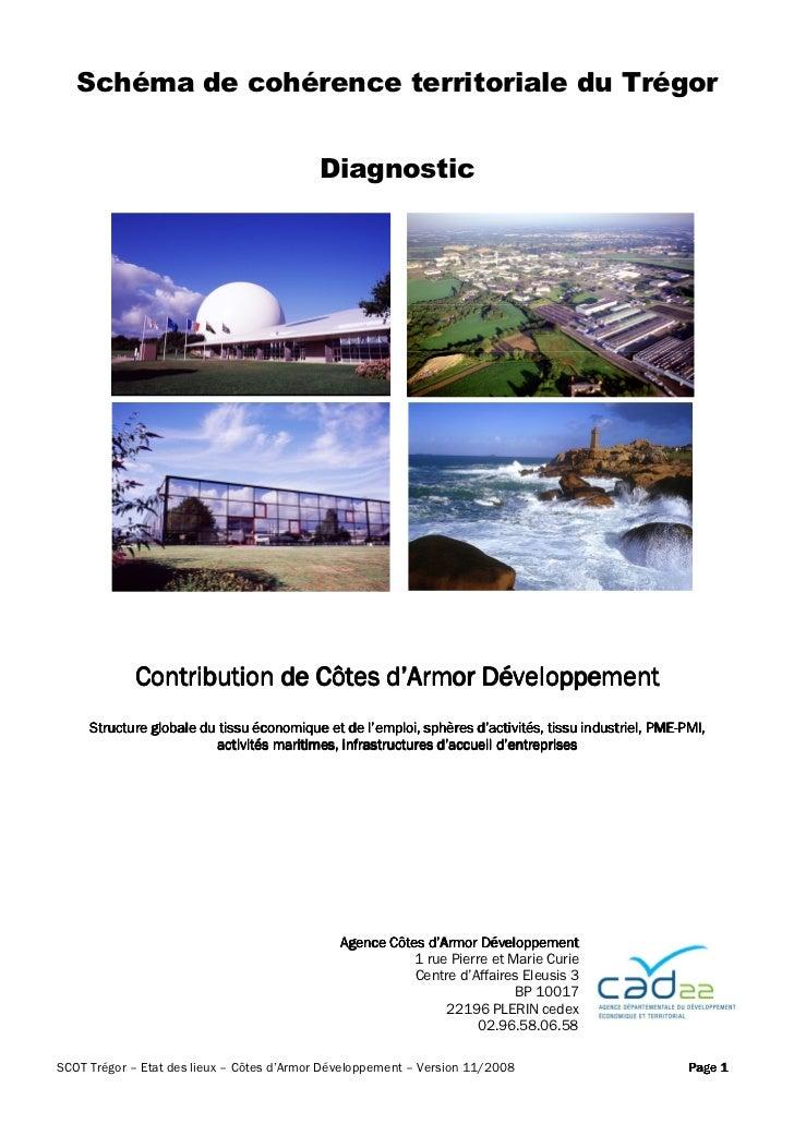 Schéma de cohérence territoriale du Trégor                                           Diagnostic            Contribution de...