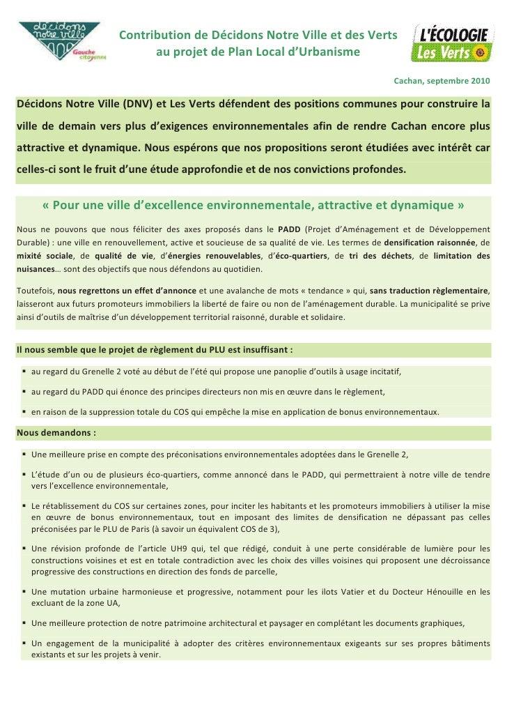 Contribution plu dnv