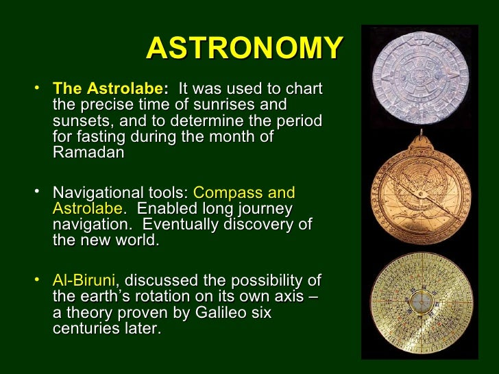 Islam Contributions to Astronomy - Pics about space