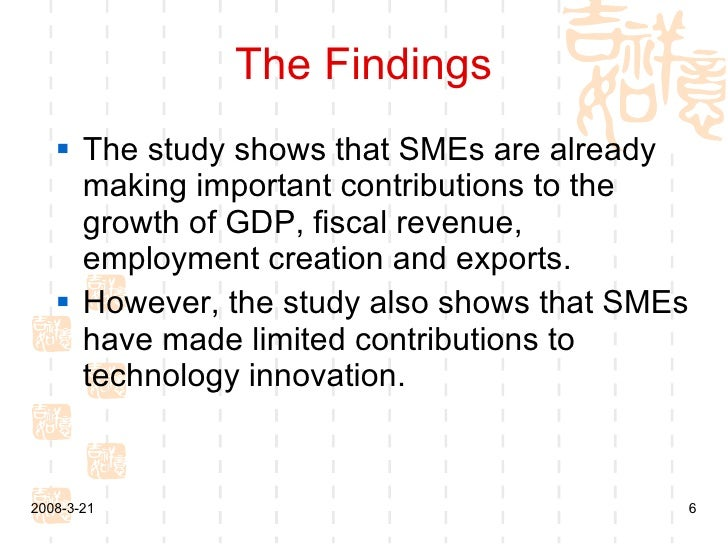 the contributions of smes to developing Small businesses, job creation and a limited number of so-called high-growth smes make important contributions to development of high-growth smes are.