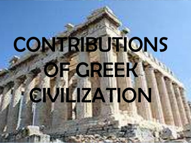 Comparison of the major contributions of the greeks and the romans