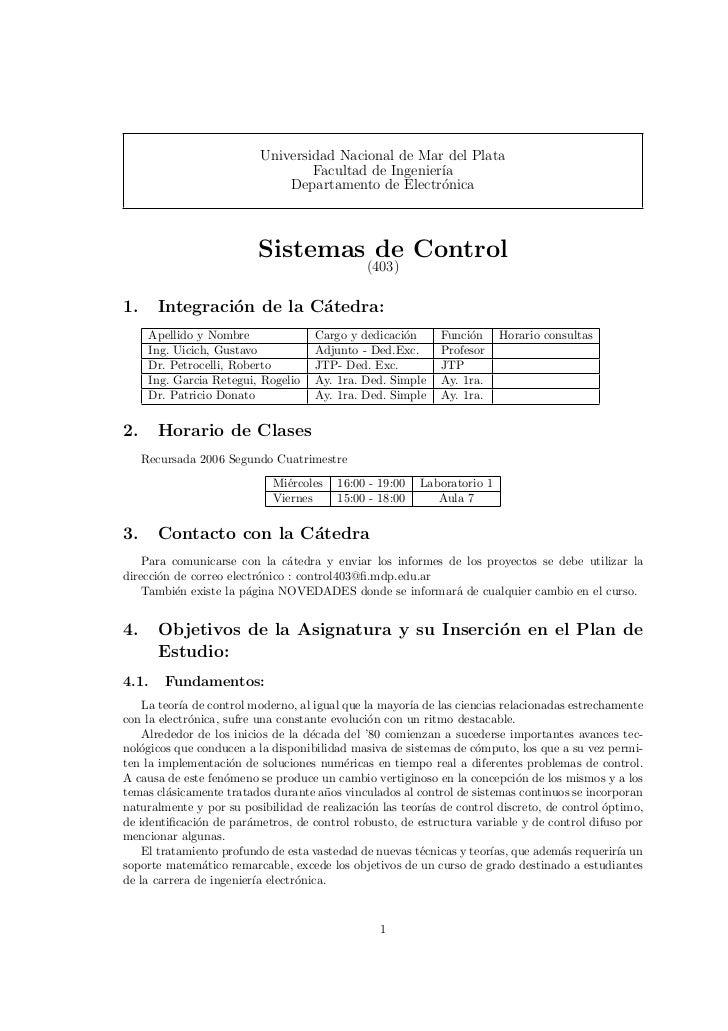 Universidad Nacional de Mar del Plata                                  Facultad de Ingenier´                              ...
