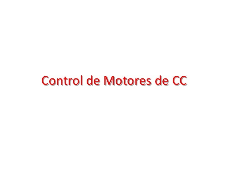 Control de Motores de CC