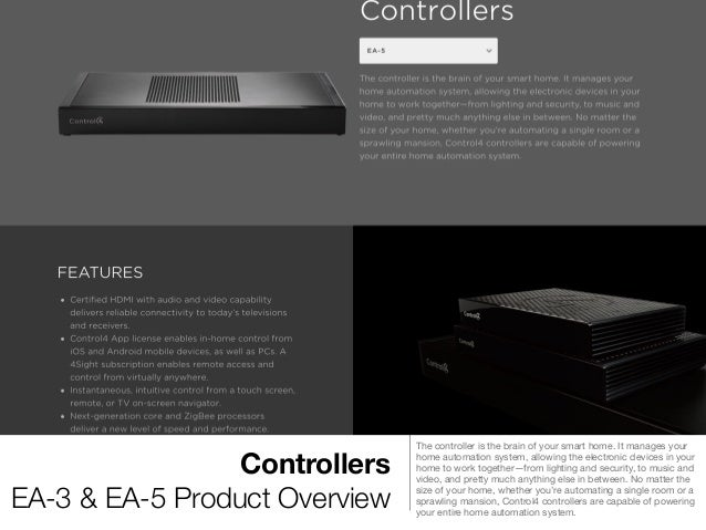 Control4 Product Overview For Complete Home Automation $CTRL