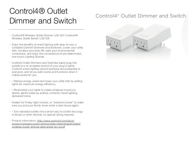 Control 4 dimmer switch installation control4 wiring diagram wire control4 product overview for complete home automation ctrl asfbconference2016 Images