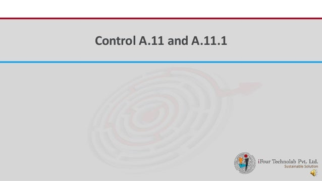 iFour ConsultancyControl A.11 and A.11.1