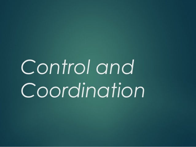 control and co ordination Basically, organizational coordination and control is taking a systematic  approach to figuring out if you're doing what you wanted to be doing or not it's  the part of.