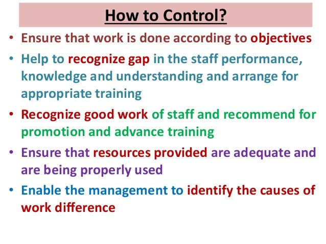 planning is the basis of control action its essence delegation its key and information is the guide Monitoring is done through a management information system (mis) span of control, delegation once an institute plan exists, management has the basis for structuring to achieve the plan's goals and objectives.