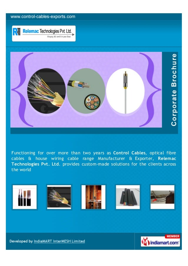 Functioning for over more than two years as Control Cables, optical fibrecables & house wiring cable range Manufacturer & ...