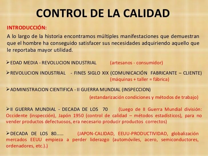 Control Calidad Introduccion