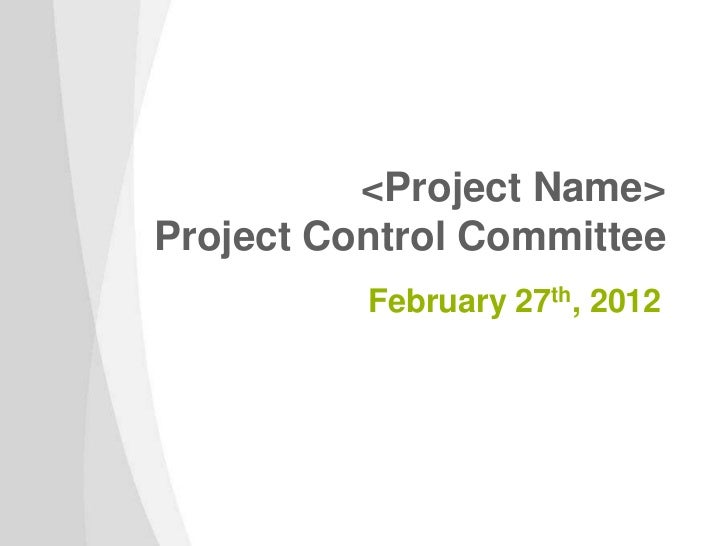 <Project Name>Project Control Committee          February 27th, 2012