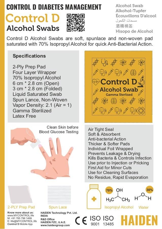 Control D Alcohol Swabs