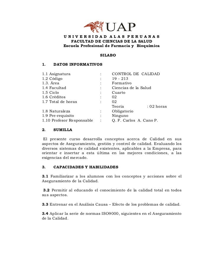 UNIVERSIDAD ALAS PERUANAS              FACULTAD DE CIENCIAS DE LA SALUD           Escuela Profesional de Farmacia y Bioquí...