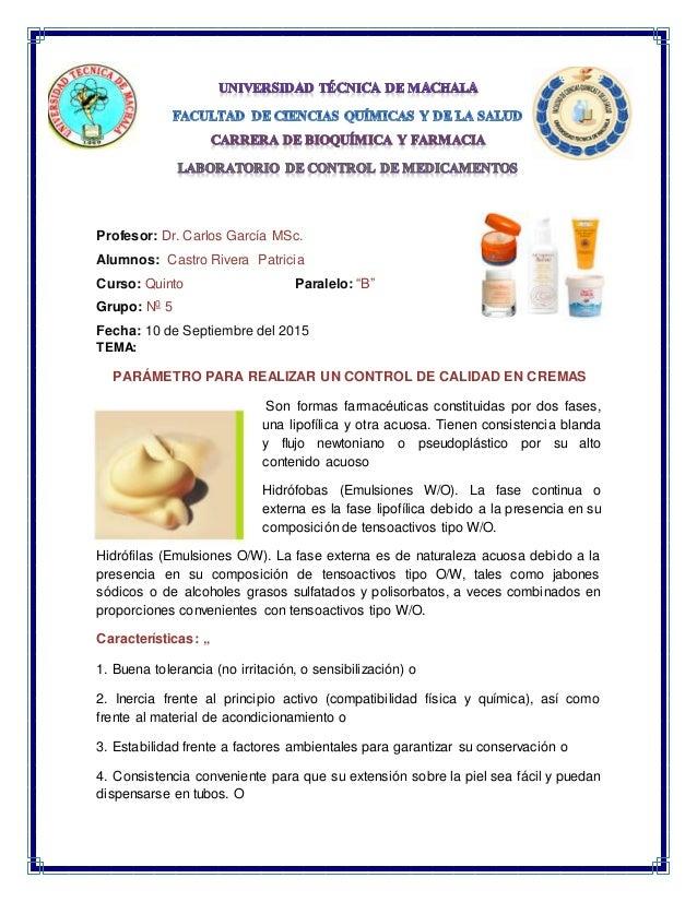 "Profesor: Dr. Carlos García MSc. Alumnos: Castro Rivera Patricia Curso: Quinto Paralelo: ""B"" Grupo: N0 5 Fecha: 10 de Sept..."