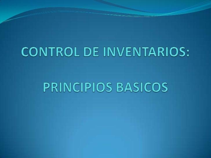 INTRODUCCIÓN El control de inventarios es un asunto de vital  importancia para casi cualquier tipo de negocios, ya  sea q...