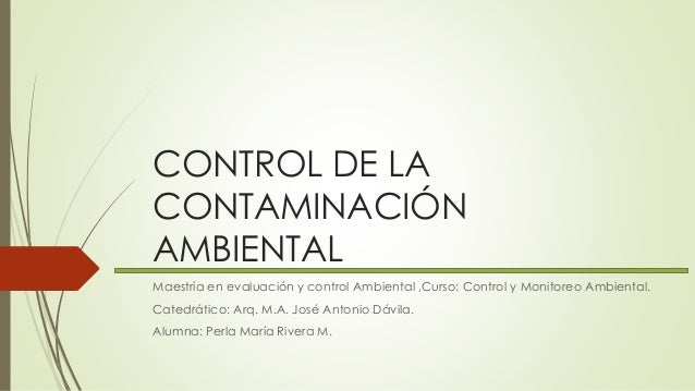 Control de la Contaminación Ambiental