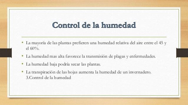 Control del clima en invernaderos - Humedad relativa espana ...