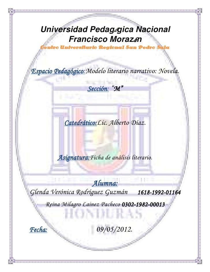 Universidad Pedagógica Nacional          Francisco Morazán   Centro Universitario Regional San Pedro SulaEspacio Pedagógic...