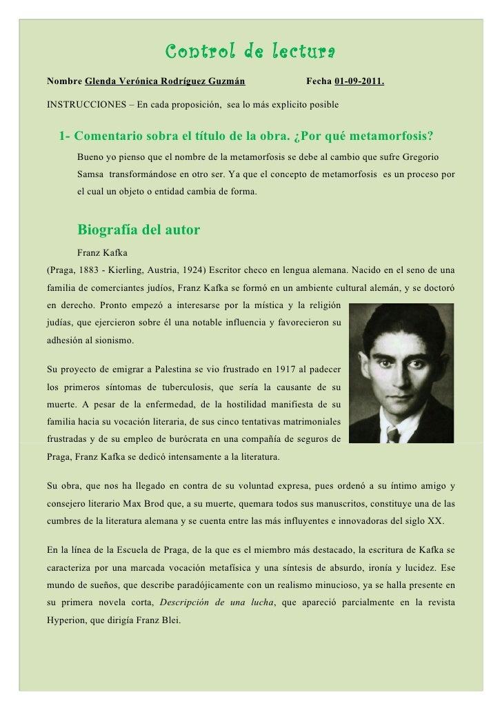 Control de lecturaNombre Glenda Verónica Rodríguez Guzmán                          Fecha 01-09-2011.INSTRUCCIONES – En cad...