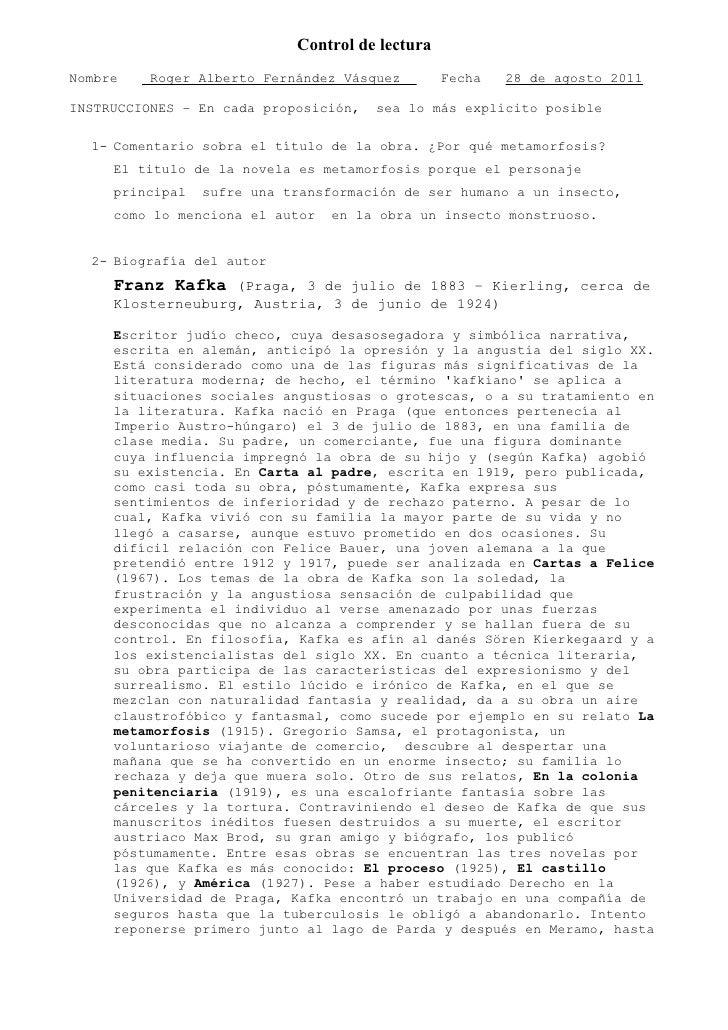 Control de lecturaNombre    Roger Alberto Fernández Vásquez        Fecha   28 de agosto 2011INSTRUCCIONES – En cada propos...