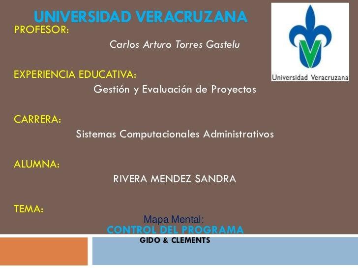 UNIVERSIDAD VERACRUZANAPROFESOR:                  Carlos Arturo Torres GasteluEXPERIENCIA EDUCATIVA:              Gestión ...