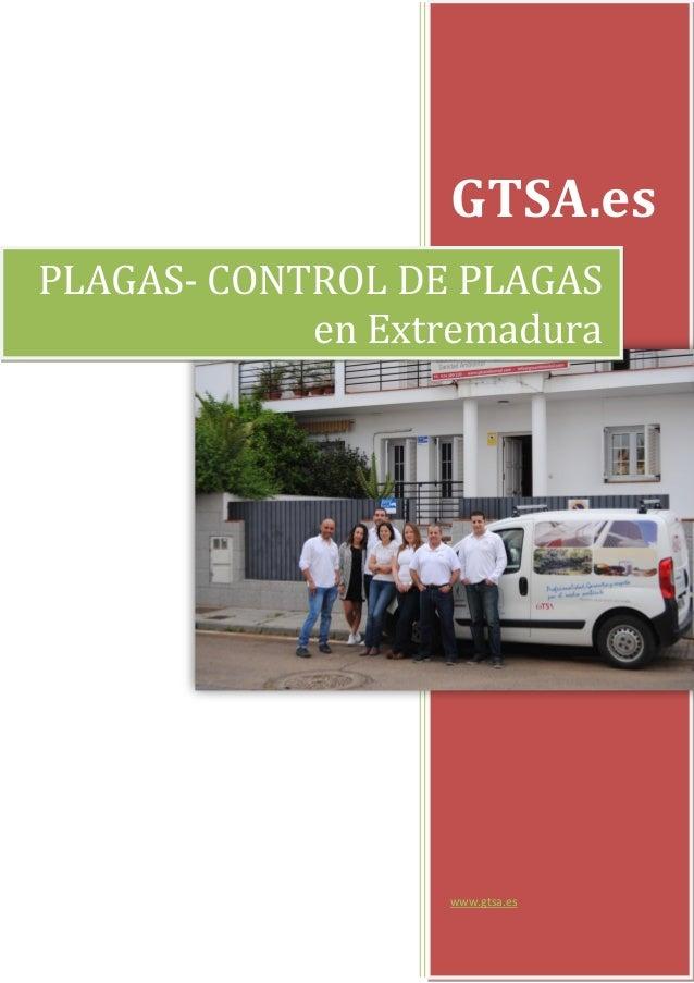 GTSA.es www.gtsa.es PLAGAS- CONTROL DE PLAGAS en Extremadura