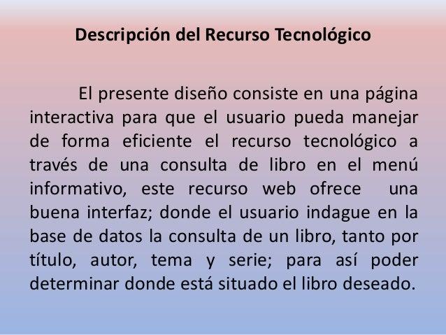Control de Registro y Consulta de Libros Slide 2