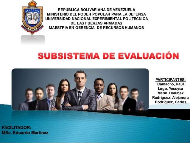 REPÚBLICA BOLIVARIANA DE VENEZUELA MINISTERIO DEL PODER POPULAR PARA LA DEFENSA UNIVERSIDAD NACIONAL EXPERIMIENTAL POLITEC...