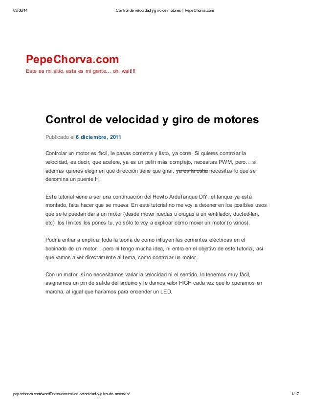 03/06/14 Control de velocidad ygiro de motores   PepeChorva.com pepechorva.com/wordPress/control-de-velocidad-y-giro-de-mo...