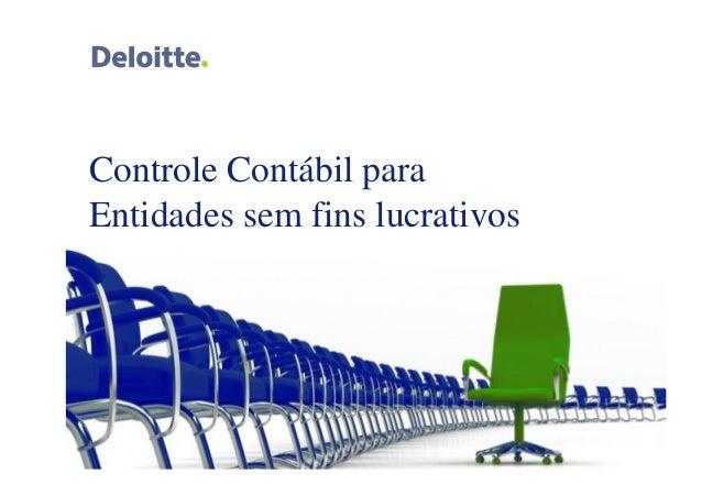 Controle Contábil para  Entidades sem fins lucrativos