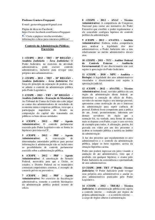 Professor Gustavo Fregapani E-mail: gustavofregapani@gmail.com Página de dicas no Facebook: https://www.facebook.com/Gusta...